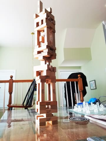 Play some Jenga or a game of chess.