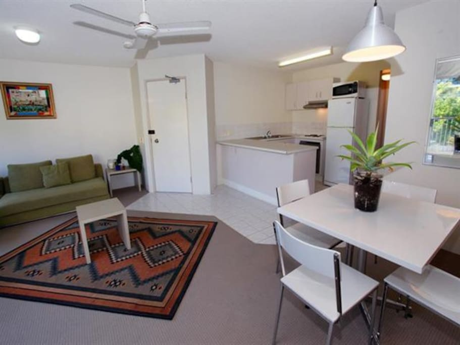 Cool (breezy) apartment with ceiling fans in each room
