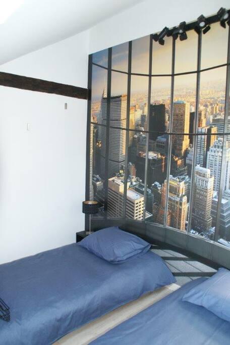 chambre 1  2 lits simples modulables en lit double