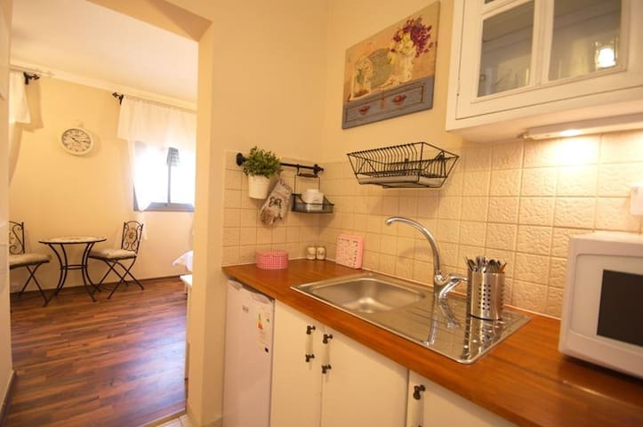 Fully equipped kitchen – refrigerator, microwave, toaster oven, electric stoves