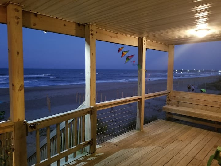 3 BR, 2.5 BA. Two Story OCEAN FRONT house.