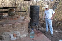 Neighbor Tony at his Casa Raab mescal still