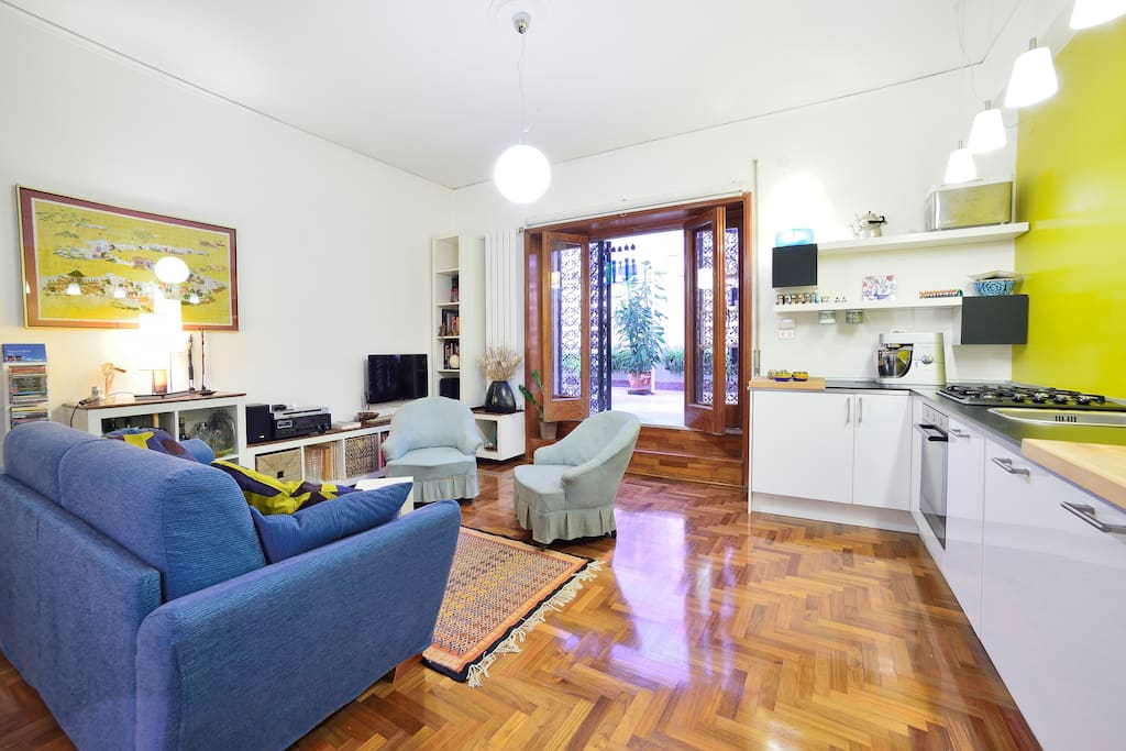 The Living room and the folding sofà