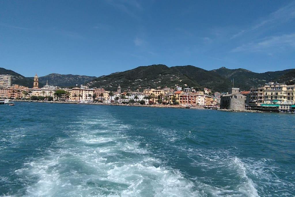 Rapallo, vista dal mare