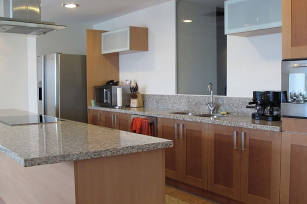 Fully apointed kitchen: Granite Countertops, Refrigerator w/Ice Maker & Filtered Water, DIshwasher, Microwave, COnvection Oven, Induction Cooktop, Coffee Maker, Toaster, Blender