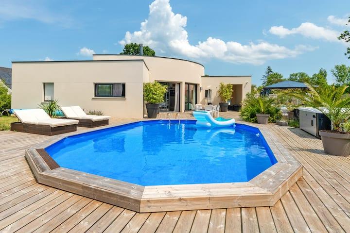 Chambres d'hôtes avec piscine chauffée