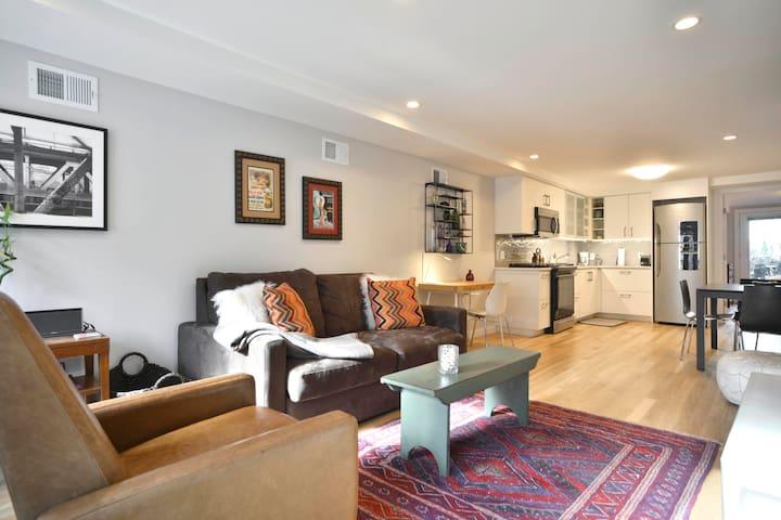 New & Bright Garden Apartment