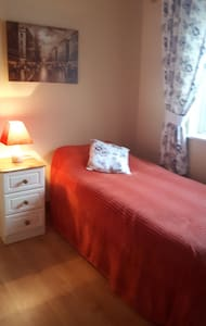 Warm cosy room for single adult in private house.