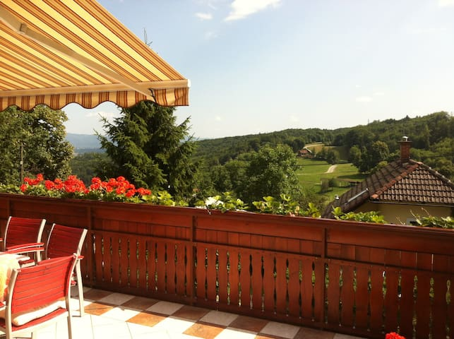 Big house, stunning views & terrace near Ljubljana - Dobeno