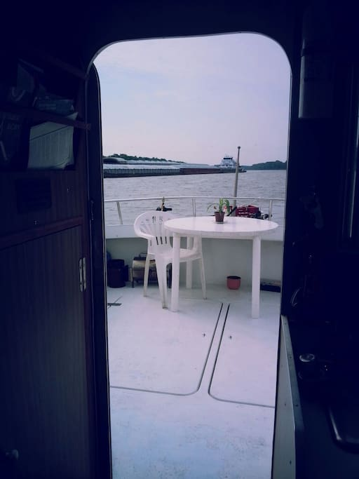 Hang out on the aft deck and check out the views...