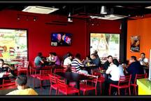 Interior of Kebabalicious. Enjoy healthy salads too!