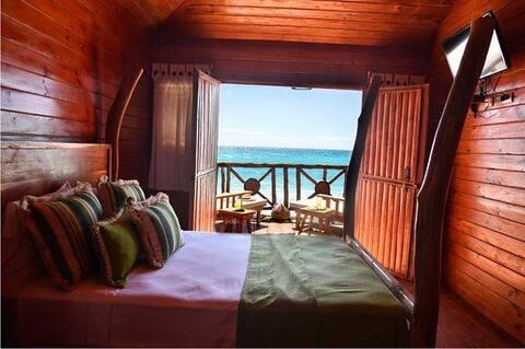 habitaciones vista al mar para parejas,  privadas.