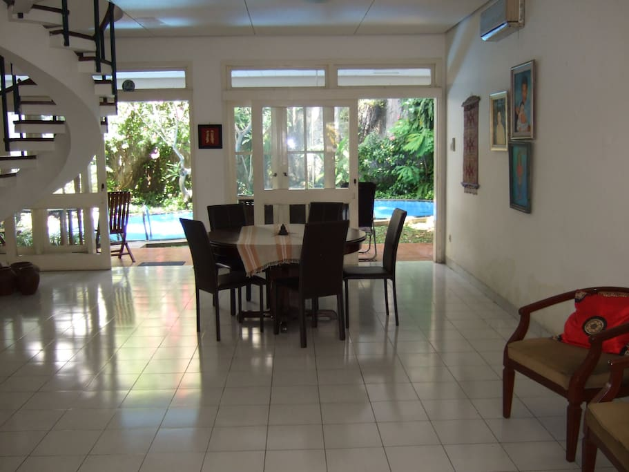 Free to use downstairs living area