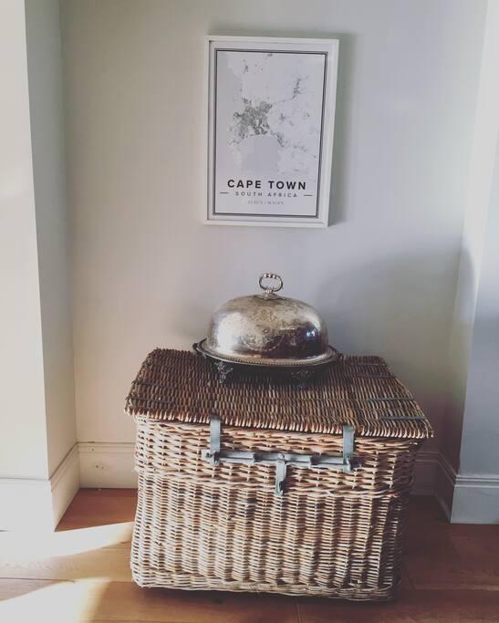 Lovely homely feel. Lots of logs in basket for log burner