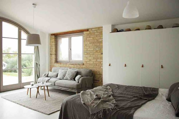 Studio apartment with open living space