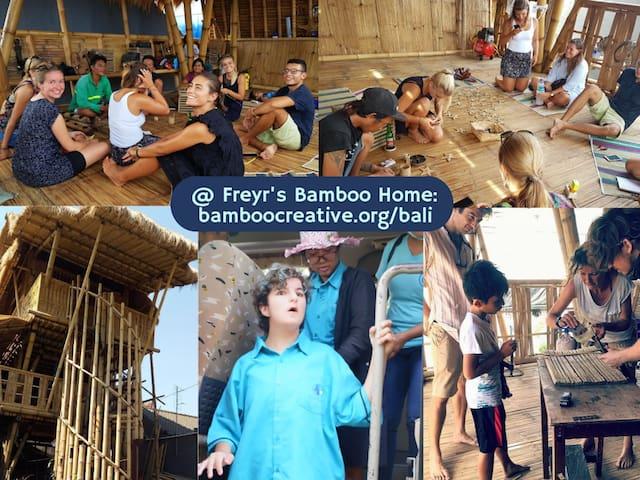 Freyr's Bamboo Home in Denpasar