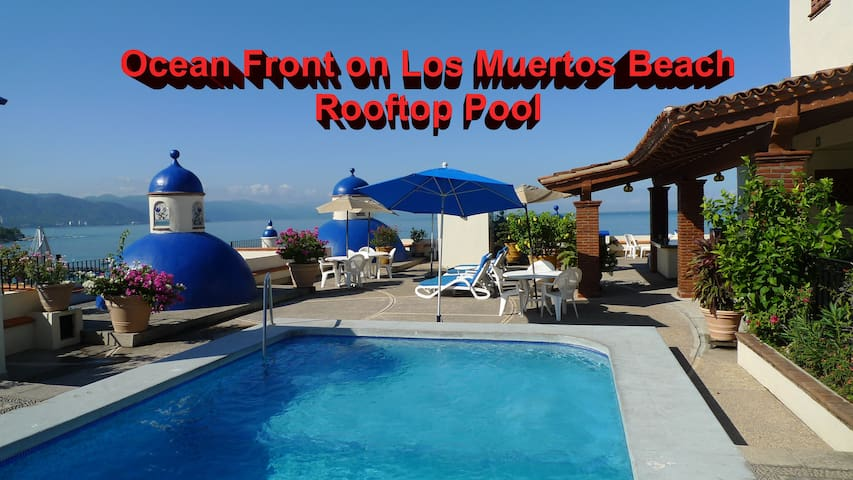 ❤️Los Muertos Beach⚡King Bed⚡Ocean Front⚡Pool⚡WiFi