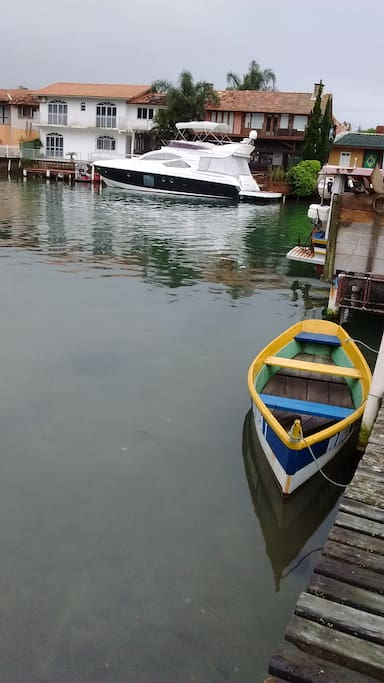A 100 metros do canal na Barrada Lagoa