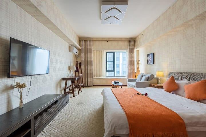一居室,房型随机安排,楚河汉街、东湖、昙华林、景观舒适大床房