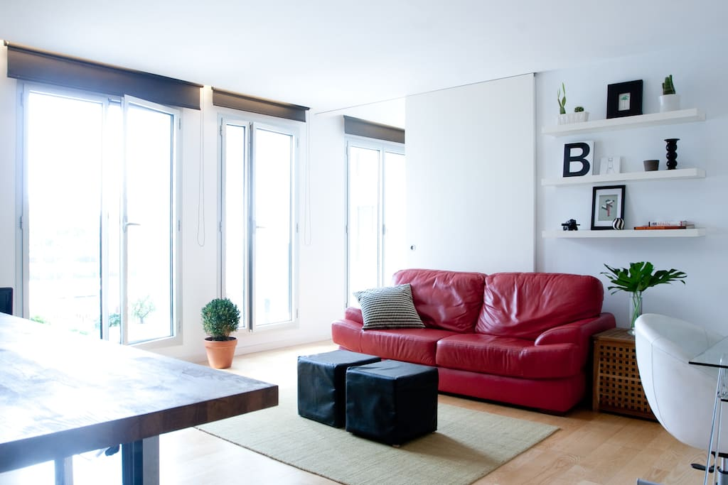 Tons of light and air make this apartment feel more spacious than it already is!