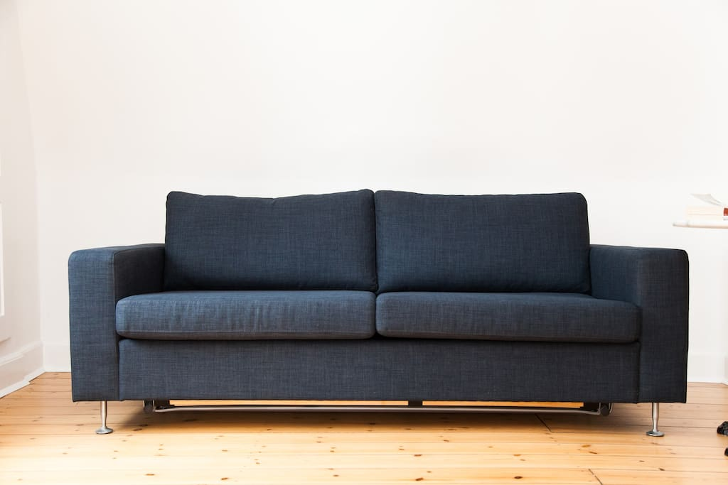 My great, brand new Danish designer sofa - turns into a cosy bed sofa