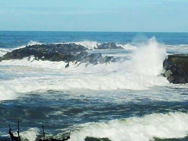 Breakwater facing  the sea