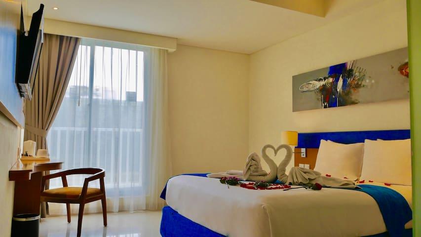 Zia Kuta Hotel - Superior Room, close to the beach