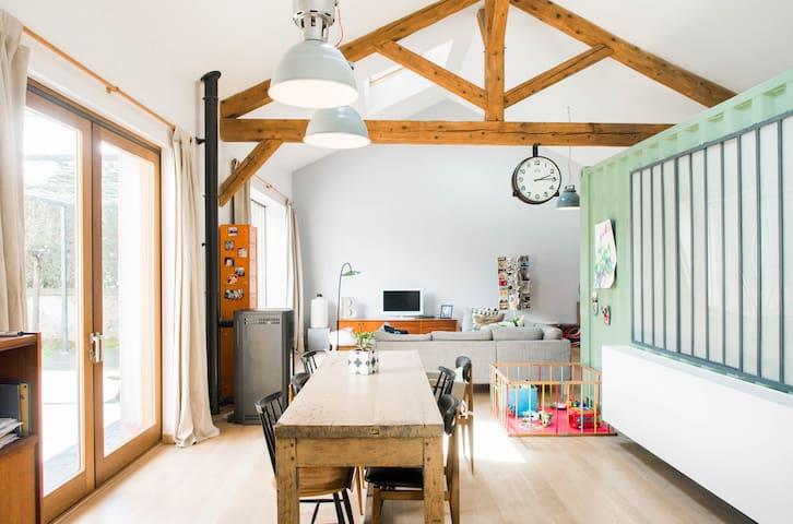 Big chambre lumineuse, au calme dans Loft ! - Feyzin - Rumah