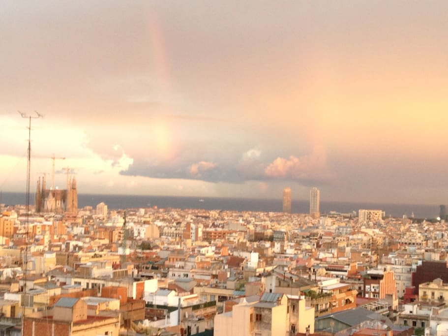 My Barcelona view of the terrace..