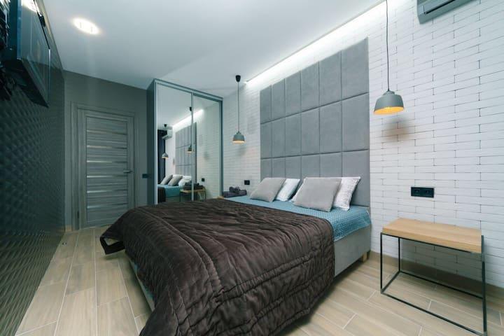 Апартаменты Делюкс c одной спальней ванна-Джакузи