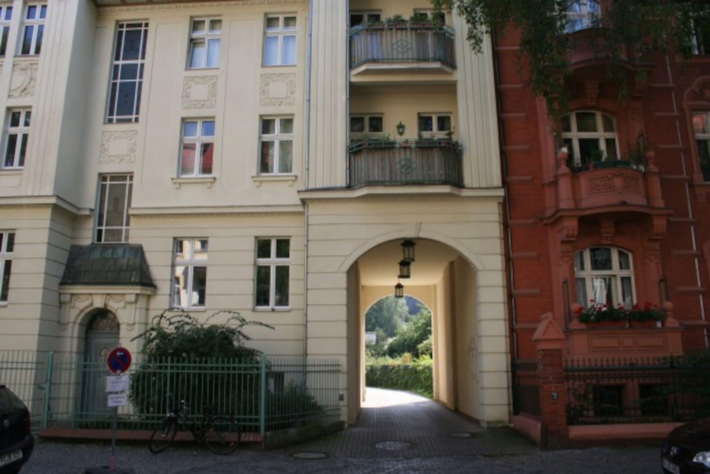 Eingang zu Feuerbachstr. 29c