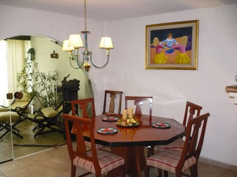 Dining room with view of verandah
