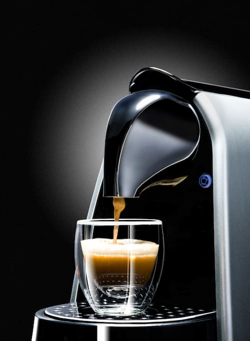 ESPRESSO MACHINE WITH ORGANIC BLENDS