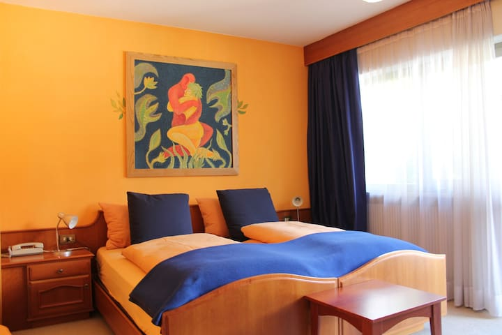 Double bed room Peach with balcony