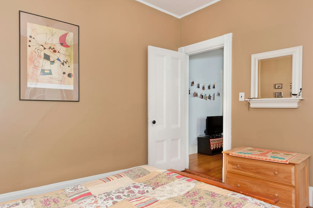 Your door opens to the living room, common areas separate the two bedrooms!