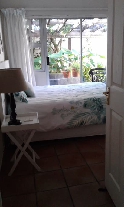 Simple comfy room with queen bed