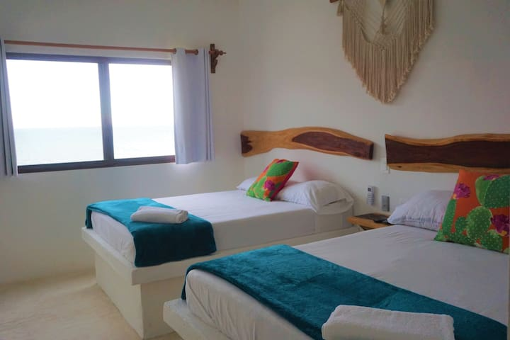 Ocean View Room great location #Holbox Mittoz