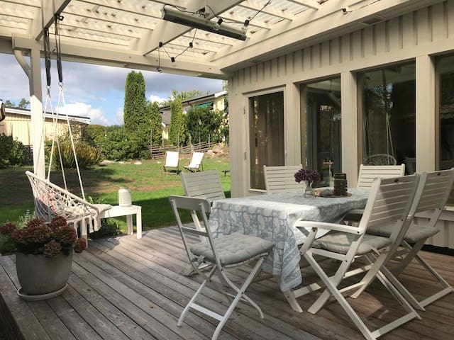 Modern family villa close to Stockholm and nature