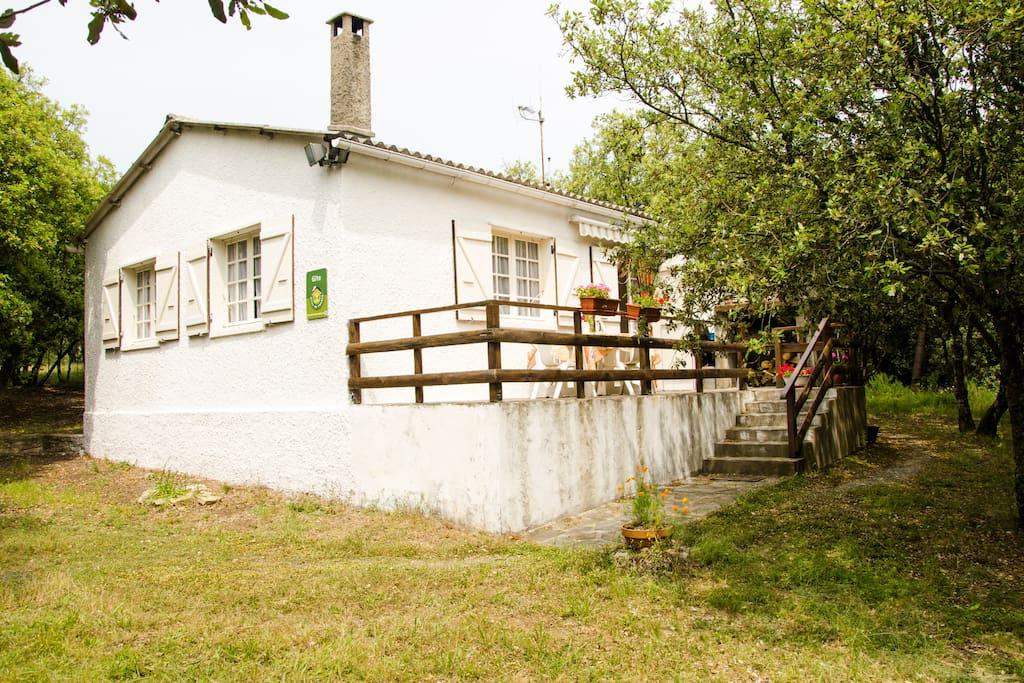Maison ensoleillée, au milieu de sa chênaie, avec sa terrasse et son barbecue!