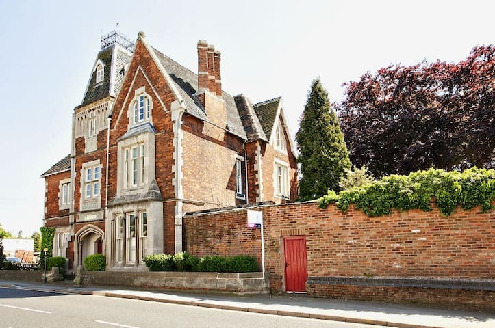 1820 Mansion with a tower, Leics - Earl Shilton - Rumah