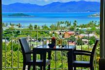 La superbe vue sur Mer de l'appartement et du balcon