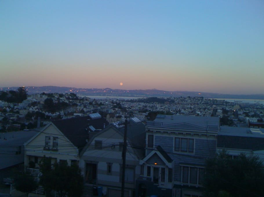 the view from our house over SF and the bay