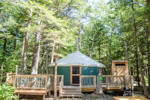 Zen Den Yurt at Maine Forest Yurts