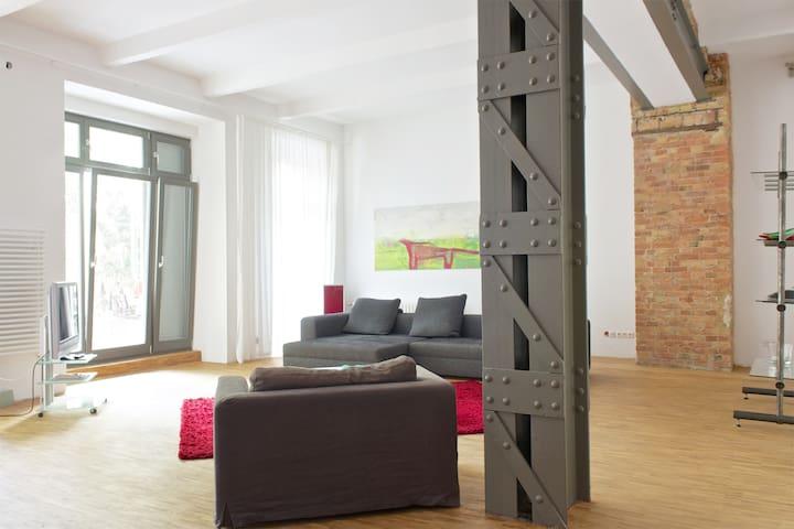 industrial loft: 2 bedrooms + 2 bathrooms