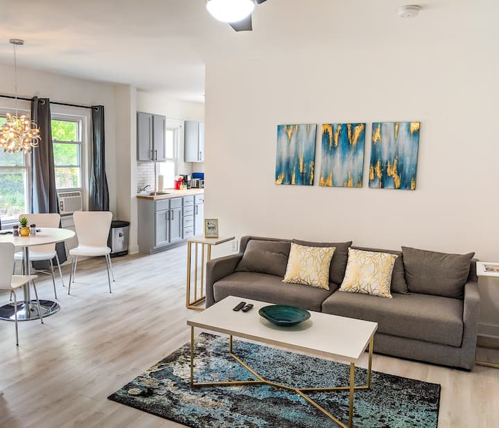 Mid-Century Modern 1BD Home | Completely Remodeled