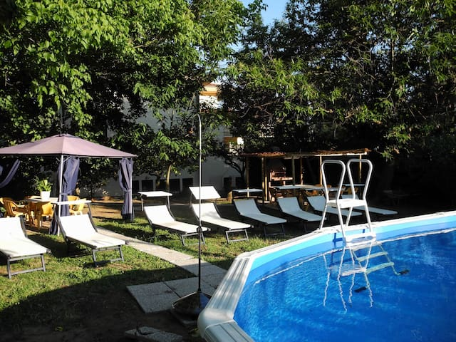 Spacious villa with garden and swimming pool