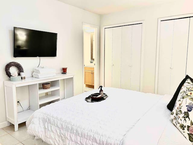 Enjoy Space and Privacy in this Master Bedroom