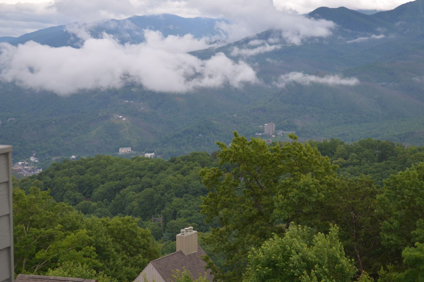 View of Mt. Leconte and Gatlinburg