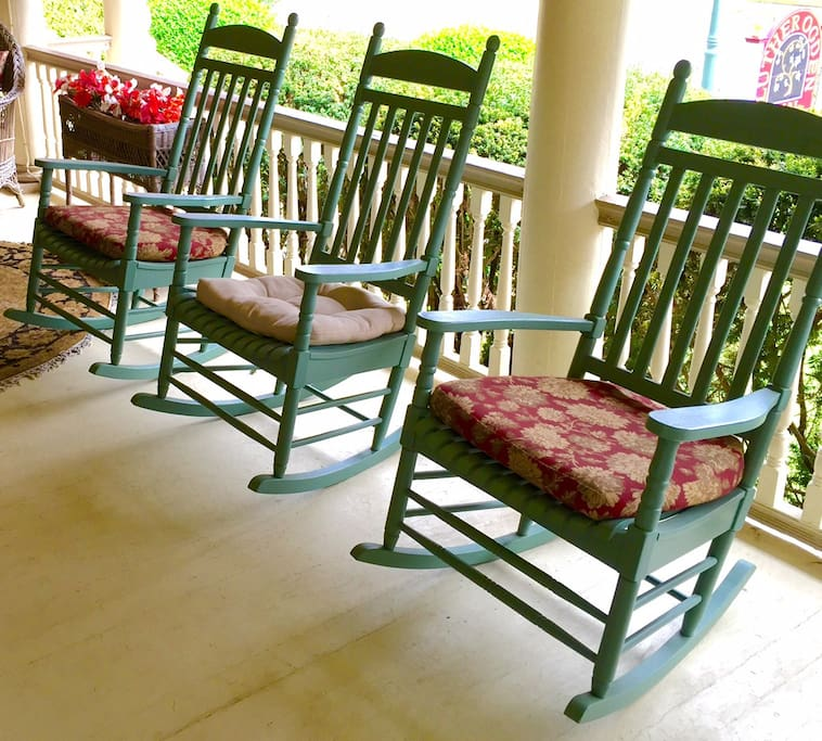 Relaxing on the wraparound porch