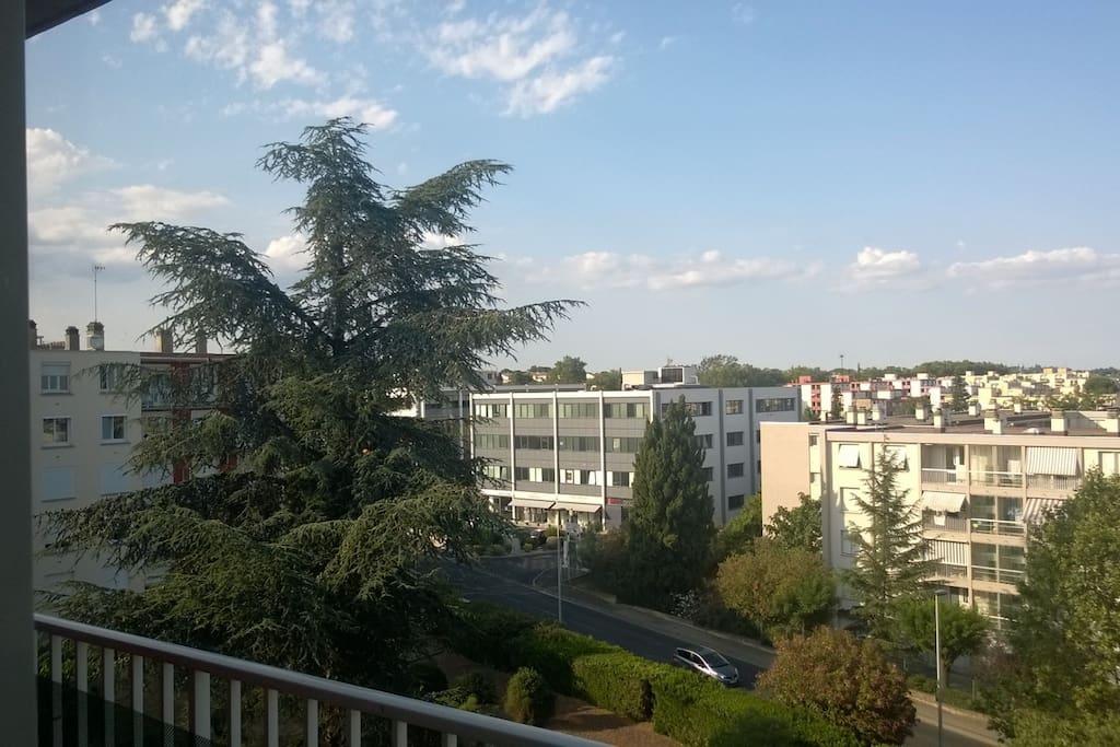 vue balcon traversant